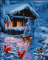 """Картины по номерам «Schipper» (9130630) художественный творческий набор """"Зимняя ночь"""", 40х50 см"""