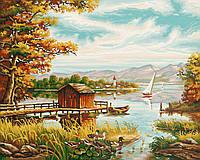 """Картины по номерам «Schipper» (9130377) художественный творческий набор """"На берегу озера"""", 50х40 см"""