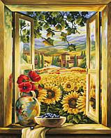 """Картины по номерам «Schipper» (9130405) художественный творческий набор """"Поле подсолнухов"""", 40х50 см"""