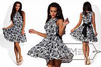 Летнее платье-клеш S M L