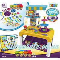 Игровой набор для лепки (пластилин для лепки) Cake Shoppe: игровая кухня + 38 предметов + 8 цветов
