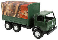 Игрушечная машинка К-маз Х2 с Тентом Военная (884) Орион