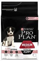 Pro Plan Puppy Medium Sensitive Skin Корм для щенков с лососем и рисом