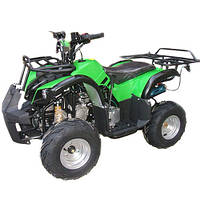 Квадроцикл, мотор 1000W безщеточ, 4 аккум 20A/12V, до 30км/ч, до 120кг, зелен-черный