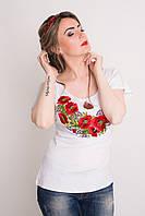 Модная вышитая женская футболка