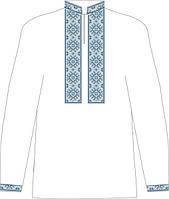 СВЮБ-4. Заготовка  Дитяча сорочка для хлопчика лляна біла.