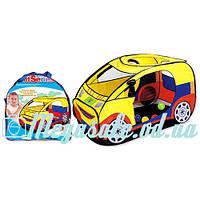"""Детская игровая палатка """"Машина"""": 120х60х65см, 1 вход+ 1 отверстие + окна-сетки"""