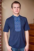 Модная вышитая мужская футболка