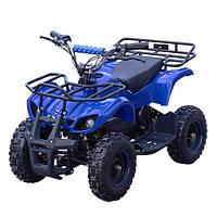 Квадроцикл, мотор 1000W безщеточ, 4 аккум 20A/12V, до 30км/ч, до 120кг, сине-черный