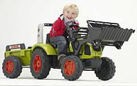 Детский педальный трактор с прицепом и ковшом Claas Arion 430 Falk 1040М