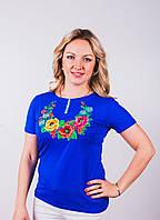 Модные женские футболки с яркой вышивкой