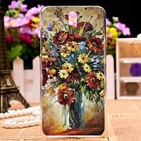 Силиконовый чехол накладка для HTC Desire 610 с картинкой ваза с цветами