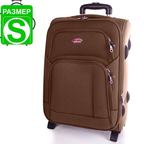 Замечательный маленький двух колесный чемодан 35 л. SUITCASE (СЬЮТКЕЙС) APT001S-12 коричневый