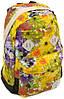 Оригинальный стильный женский городской рюкзак 25 л. Lanpad, 3361-1 black-yellow желтый