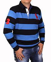 Свитер мужской брендовый Ralph Lauren-121 синий