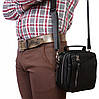 Мегафункциональная мужская барсетка черного цвета, натуральная кожа Alvi av-5-4105