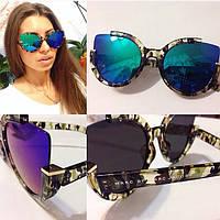 Стильные женские солнцезащитные очки в необычной оправе d-4316224