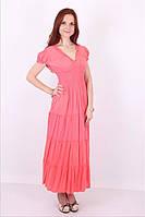 Женское однотонное платье на лето №1023 (розовый)