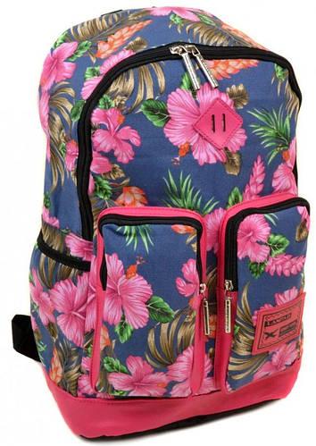 Яркий молодежный городской рюкзак 24 л. Lanpad 3326-2 blue синий