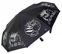 Женский зонт полный автомат AVK большие коты в обнимку