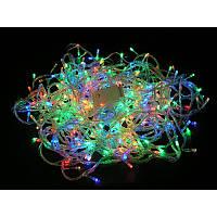 Гирлянда электрическая с 100 LED лампочками 10 метров Multicolor ME-100LEDm