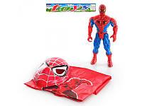 Фигурка супергероя спайдермена со световым эффектом, плащом и маской Metr+ 010 A