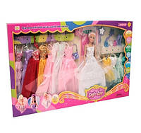 Кукла DEFA 8027 в кор-ке с одеждой, 3 вида
