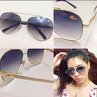 Стильные женские солнцезащитные очки в металлической оправе с-4316233