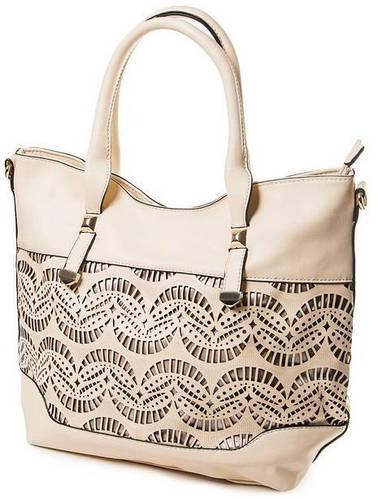 Нежная классическая сумка женская искусственная кожа Bretton D-728-2 beige