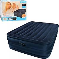 Двуспальная надувная кровать Intex 66718 (Синяя)