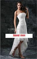 Свадебное платье средней длины с