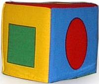 "Кубик-погремушка ""Геометрические фигуры"" Умная игрушка"