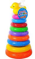 Детская игрушка Пирамидка-конус с уточкой 720 (30 см)