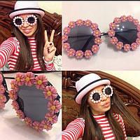 Женские молодежные солнцезащитные очки с цветами (в расцветках) j-4316252