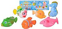 Набор игрушек - пищалок Морские животные 2107-6 (Metr+)