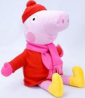 """Мягкая игрушка Свинка """"Пеппа"""" 1 (в зимней одежде)"""
