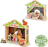 Деревянная игрушка GT 5948 Игра-логика Маша и Медведь