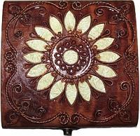 Шкатулка деревянная с металлическим декором 172022 ТМ Дерево