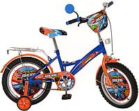 Велосипед детский Profi мульт, 16 дюймов Racing PR1633 (оранжево-синий)