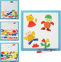 Деревянная игрушка Доска магнитная с геометрическими фигурами (MD 0064)