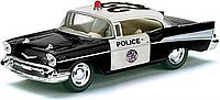Машинка металлическая инерционная Chevrolet Bel Air Police 1957 KT 5323 W (Kinsmart)