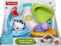 """Набор игрушек для купания """"Друзья в лодочках"""" Fisher-Price"""