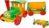 Игрушка Поезд-конструктор с 1 прицепом 013117 Фламинго-Тойс (салатовый)