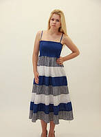Стильная женская юбка-сарафан №11150 (синий)