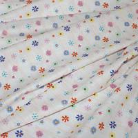 """Декоративная ткань хлопковая (экокоттон) """"Мелкие цветочки"""", фон светло-бежевый"""