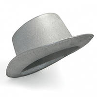 Шляпа Цилиндр серебряная