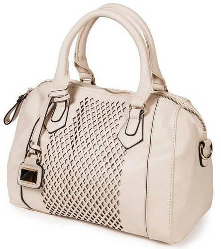 Восхитительная классическая сумка женская искусственная кожа Bretton 14731 beige