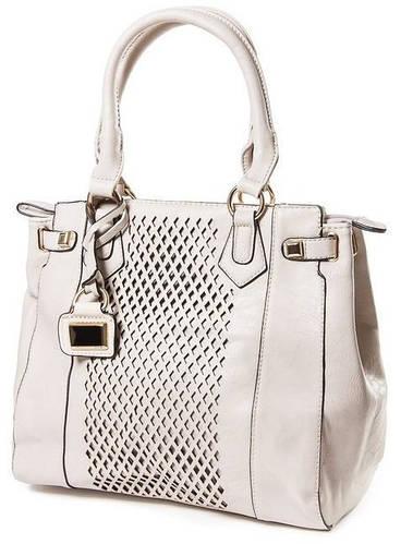 Качественная классическая сумка женская искусственная кожа Bretton 14730 grey