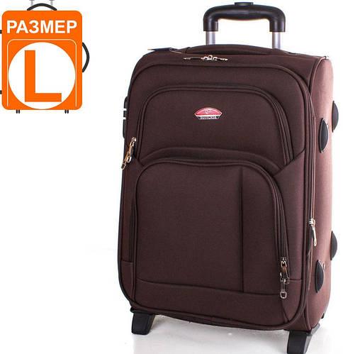 Большой прочный чемодан на 2-х колесах 86 л. SUITCASE (СЬЮТКЕЙС) APT001L-10 коричневый