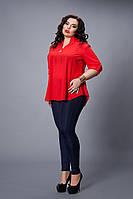 Блуза  мод 501-1 размер 48-50,50-52,52-54,54-56,56-58,60 красная